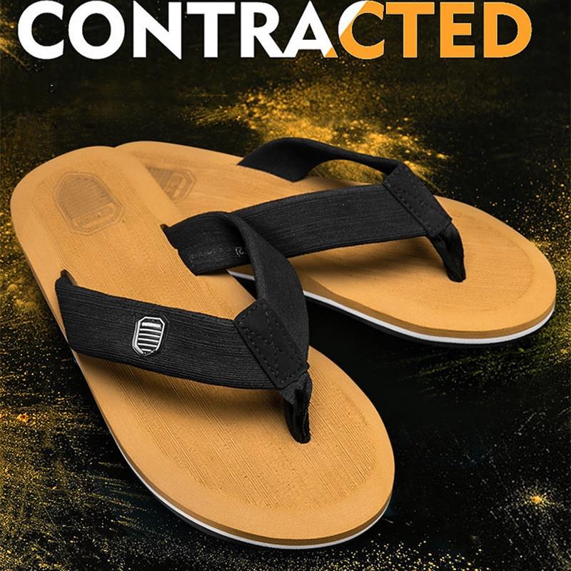 2021 New Arrival Summer Men Flip Flops High Quality Beach Sandals Anti-slip Zapatos Hombre Casual Shoes Wholesale A10 1