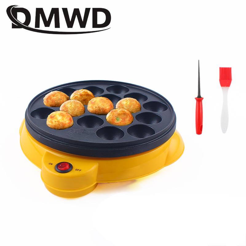 DMWD 110V/220V Chibi Maruko Baking Machine Household Electric Takoyaki Maker Octopus Balls Grill Pan Professional Cooking Tools