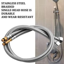 Stainless Steel Braided Hose Single-Head Pipe Inlet Hose Kitchen Faucet Hot And Cold On The Water Pipe Professional viborg top quality 60cm sus304 stainless steel flexible braided water supply hose for water heater connector pipe tube