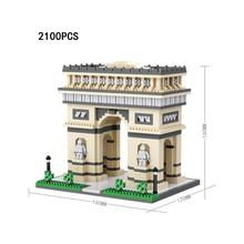 hot LegoINGlys creators city Street view Paris Arc de Triomphe France mini micro diamond building blocks bricks toys for gifts