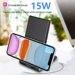 Image 3 - FDGAO 15W Qi Quick Wireless Charger Stand For iPhone 11 Pro X XS Max XR 8 Samsung S10 S9 Note 9 10 Wireless Charge Dock Station