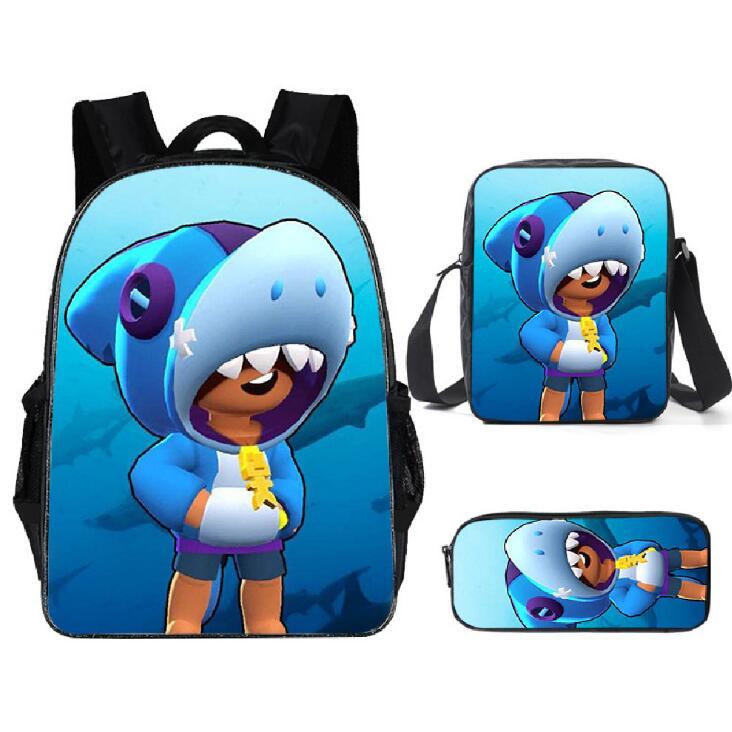 2020 Fashion Schoolbag For Boys Stars Leon Game Backpack For Primary School Bookbag Children Personized Schoolbag 3pcs/sets