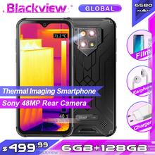 Blackview BV9800 Pro-Pierwszy smartfon z kamerą termowizyjną wodoodporny telefon komórkowy z systemem Android 9 0 procesor Helio P70 6GB RAM 128GB pamięci wewnętrznej norma IP68 tanie tanio Nie odpinany CN (pochodzenie) Rozpoznawania linii papilarnych Rozpoznawania twarzy Inne 48MP 6580mA Adaptacyjne szybkie ładowanie