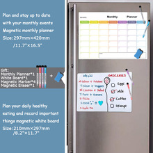 whiteboard+Magnetic monthly weekly planner dry erase calendar fridger Message school Reminder Practice Writing White board