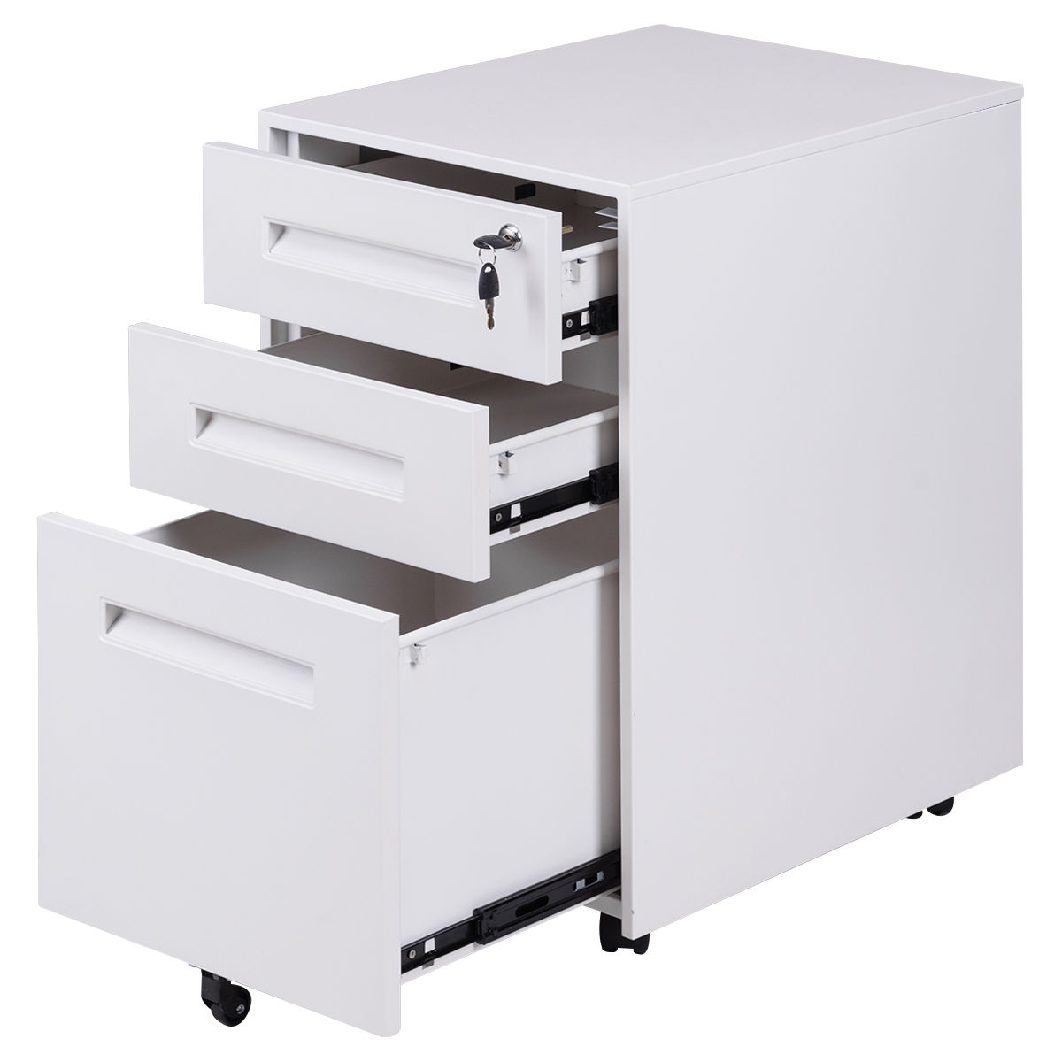 Rolling A4 File Cabinet Sliding Drawer Metal,Office Document Holder,Office Organizer