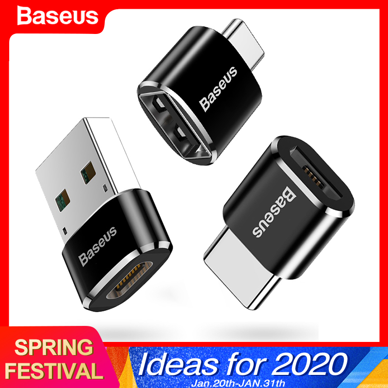 Baseus USB Type C OTG Adapter USB C Male To Micro USB Female Cable Converters For Macbook Samsung S10 Huawei USB To Type-c OTG