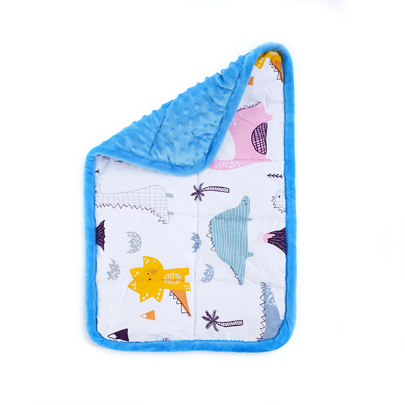 Sensory Weighted Lap Pad For Kids 56x36cm Blue Dots Weighted Blankets Knee Lap Blanket For Kids Autism ADHD Special Needs