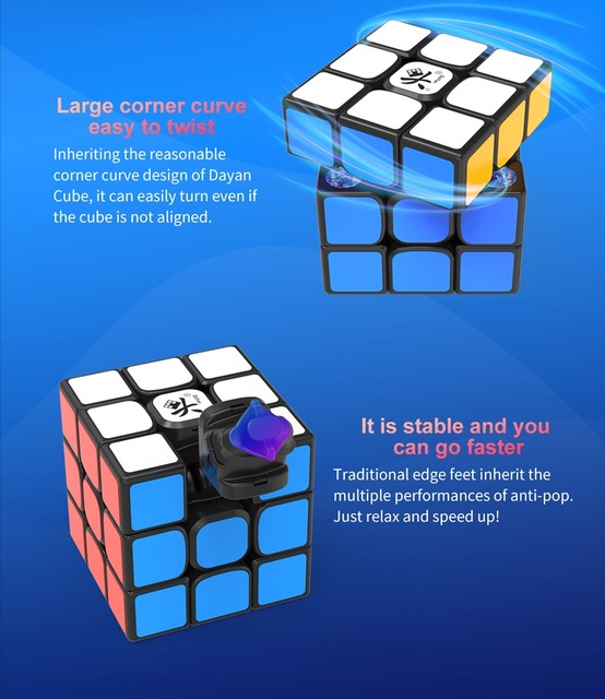 Original Newest Dayan tengyun V2 M Magnetic 3x3x3 Cube Cubo Magico 3x3 with Magnets Educational Toys for kids Gifts Tengyun V2M 4
