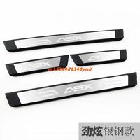 stainless steel  Plate Door Sill Welcome Pedal Car Styling Accessories for Mitsubishi ASX2011 2012 2013 2014 2015 2016 2017 2018