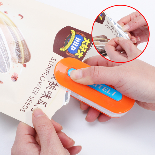 7 kolor przenośny Mini uszczelniania maszyna do domu zgrzewarka Capper przechowywania żywności na torby plastikowe pakiet Mini gadżety
