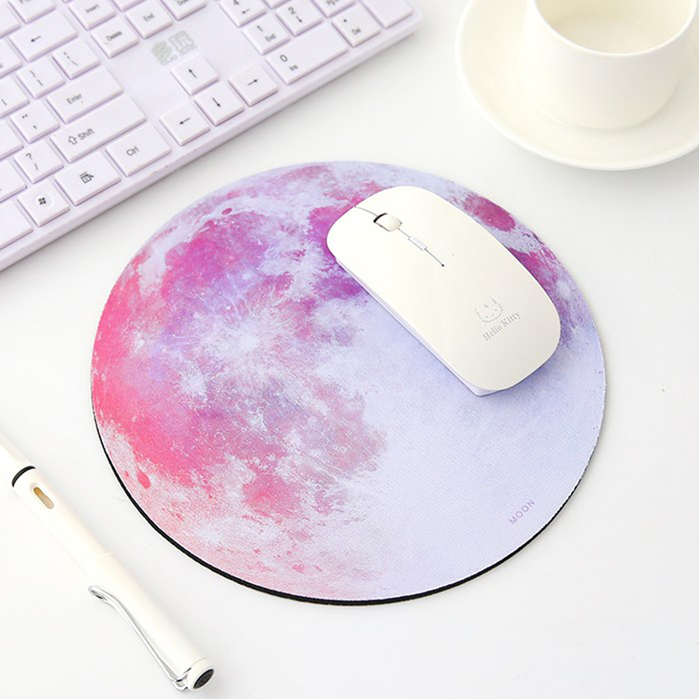 Round Mouse Pad Planet Series Mat Earth/Venus/Mars/Mercury/Jupiter/Pluto/Rainbow Moon/Black Moon Computer Peripherals Accessory mouse
