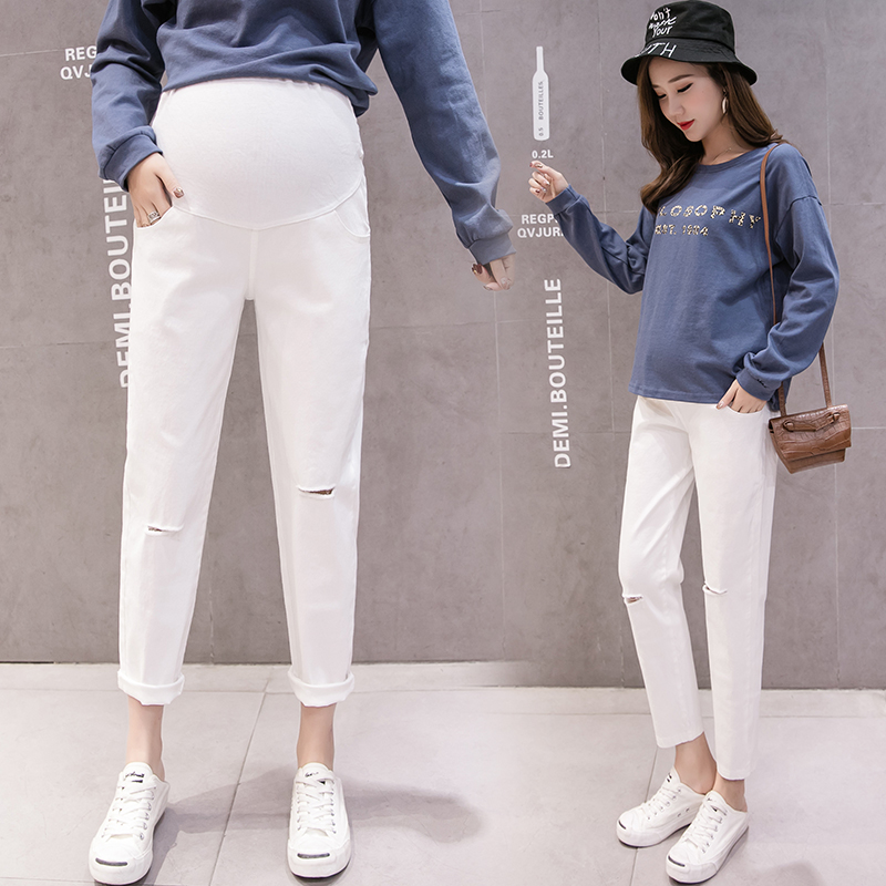 Cotton Maternity Pants Clothes Causal Trousers For Pregnant Women Harem Pants Long Trousers Pregnancy WearClothing Spring summer