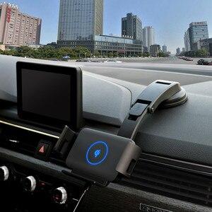 Image 3 - Qi voiture chargeur sans fil 10W Auto serrage support de téléphone pour Samsung Galaxy pli Fold2 S10 iPhone XS 11 Max Xiaomi Huawei Mate X