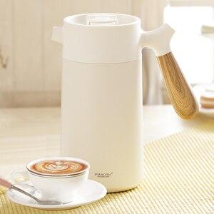 Image 3 - Sottovuoto di Caffè Pentola 950ml Famiglia 304 In Acciaio Inox A Mano Presse Caffè Isolato Bollitore Con Manico di Affari Filtro del Caffè Pentola