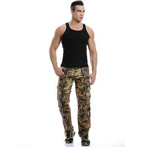 Image 3 - 2020 Hoge Kwaliteit Mannen Cargo Broek Toevallige Losse Multi Pocket Militaire Broek Lange Broek Voor Mannen Camo Joggers Plus maat 28 40