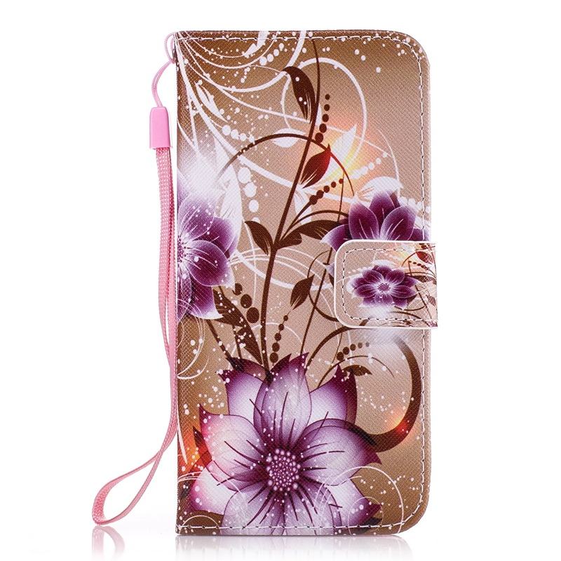 Art Painting Owl Flower Wallet Flip Leather Cover Soft Case For Samsung Galaxy S3 S4 S5 Neo Mini S6 S7 Edge S8 S9 Plus