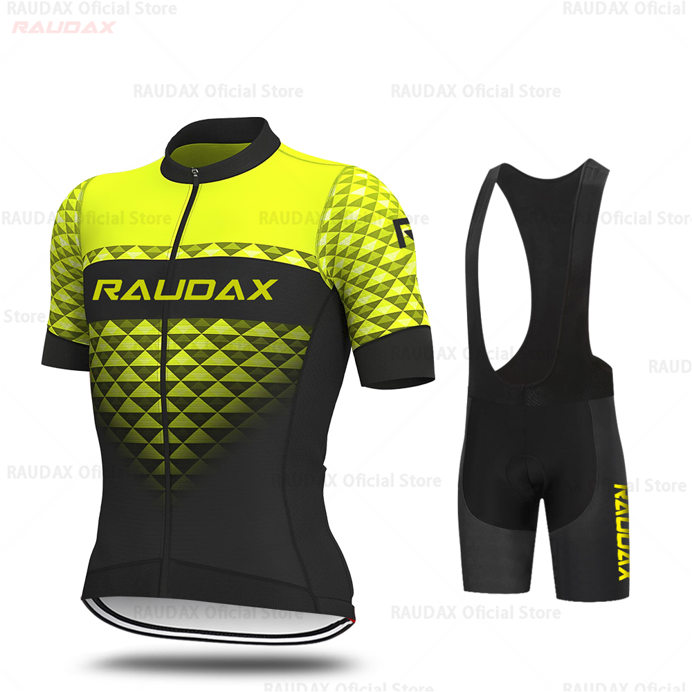 Bicycle Jersey Set Full Zipper Men Breathable Cycling Clothing Kits Bike Uniform