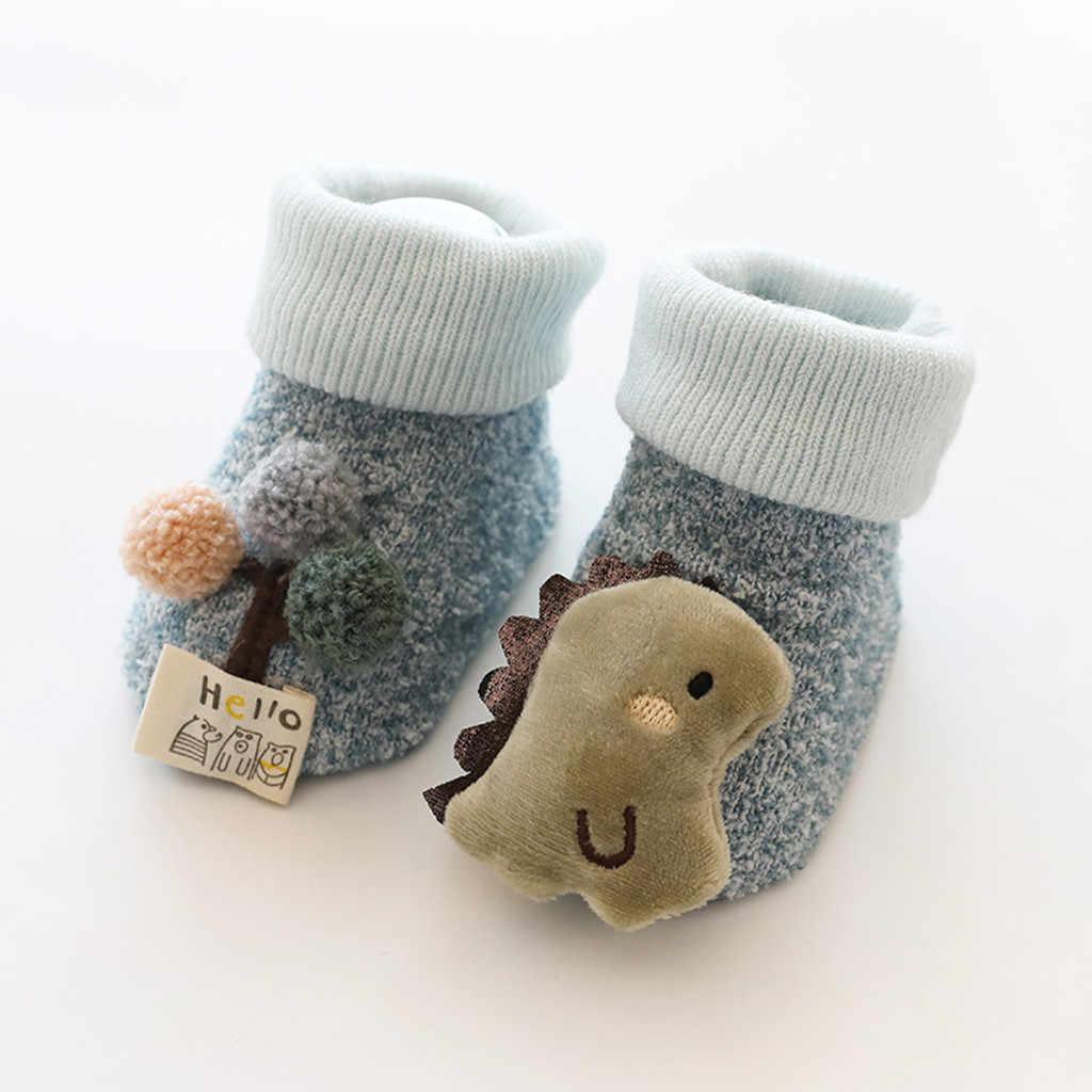 Winter sofa Socks Baby Toddler Kids baby Boys Girls Cartoon 3D Animal Anti-Slip Knitted Warm Socks Anti Slip Socks Kids носки