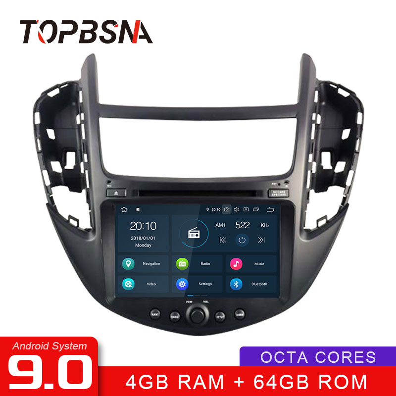 TOPBSNA Android 9.0 1 Din Car DVD Player For Chevrolet Tracker/Holden Trax 2013 2014 2015 2016 2017 GPS Navi WIFI Auto Stereo SD image