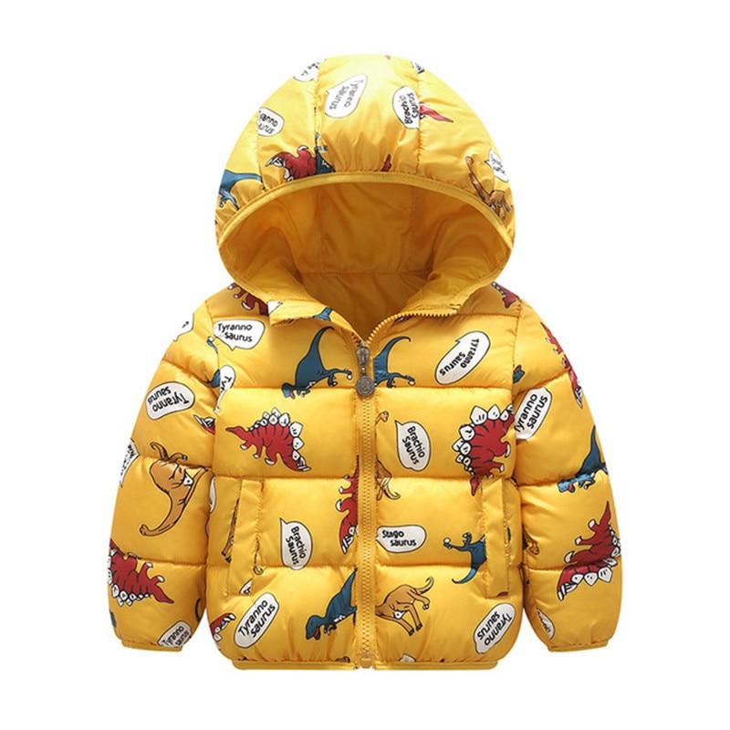 Autumn Boys Down Jackets Hooded Outerwear Children Cartoon Warm Jacket Fashion Baby Kids Coat Clothes Girls Outerwear Jacket 2