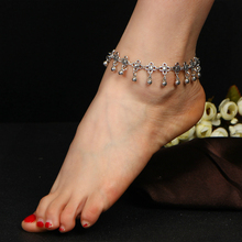 Fashion Anklet Jewelry Imitation Pearl Ankle Bracelet Female Simple Pendant Tassel Hollow Carved Vintage Womens