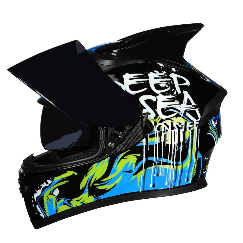 Full Face Helmet Casco Moto Capacete Motorcycle Helmet Racing kask Casque Moto Full Face Kask Downhill