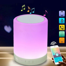 LED Night Light Table Bedside Lamps Smart Touch Lamp With Wireless Bluetooth Speaker Dimmable RGB Changeable Music Sync Lamp