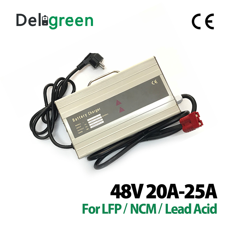 48V 20A 25A <font><b>Charger</b></font> 58.4V 67.2V for Li-ion Lithium Battery and Lead Acid Battery Packs for Scooter <font><b>Golf</b></font> <font><b>Cart</b></font> image