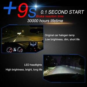 Image 4 - 2 uds faro de coche Mini lámpara H7 bombillas LED H4 H7 H8 H11 H1 H13 9005 9006 juego de focos delanteros 9007 para Auto 12V lámpara de LED 6000K 7600LM C6
