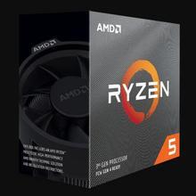 Процессор AMD Ryzen 5 3600, 3,6 ГГц, 6 ядерный процессор с двенадцатью потоками, 7NM, 65 Вт, L3 = 32 МБ, 100 000000031, сокет AM4, с вентилятором