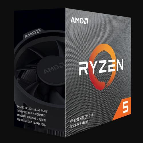 AMD Ryzen 5 3600 R5 3600 3.6 GHz שש ליבות עשר חוט מעבד מעבד 7NM 65W L3 = 32M 100 000000031 שקע AM4 חדש עם מאוורר