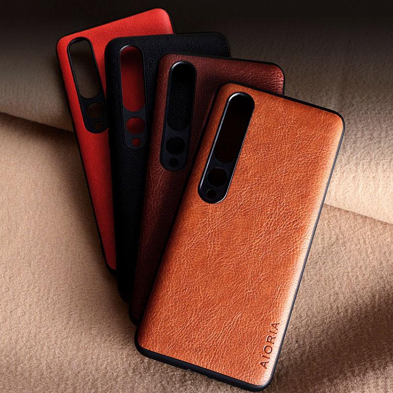 Litchi Case For Xiaomi 10 5G Mi9 SE Lite Mi9t Mi 9 8 9T Pro Mi8 Mix 2S Max Note 10 3 5 A1 A2 A3