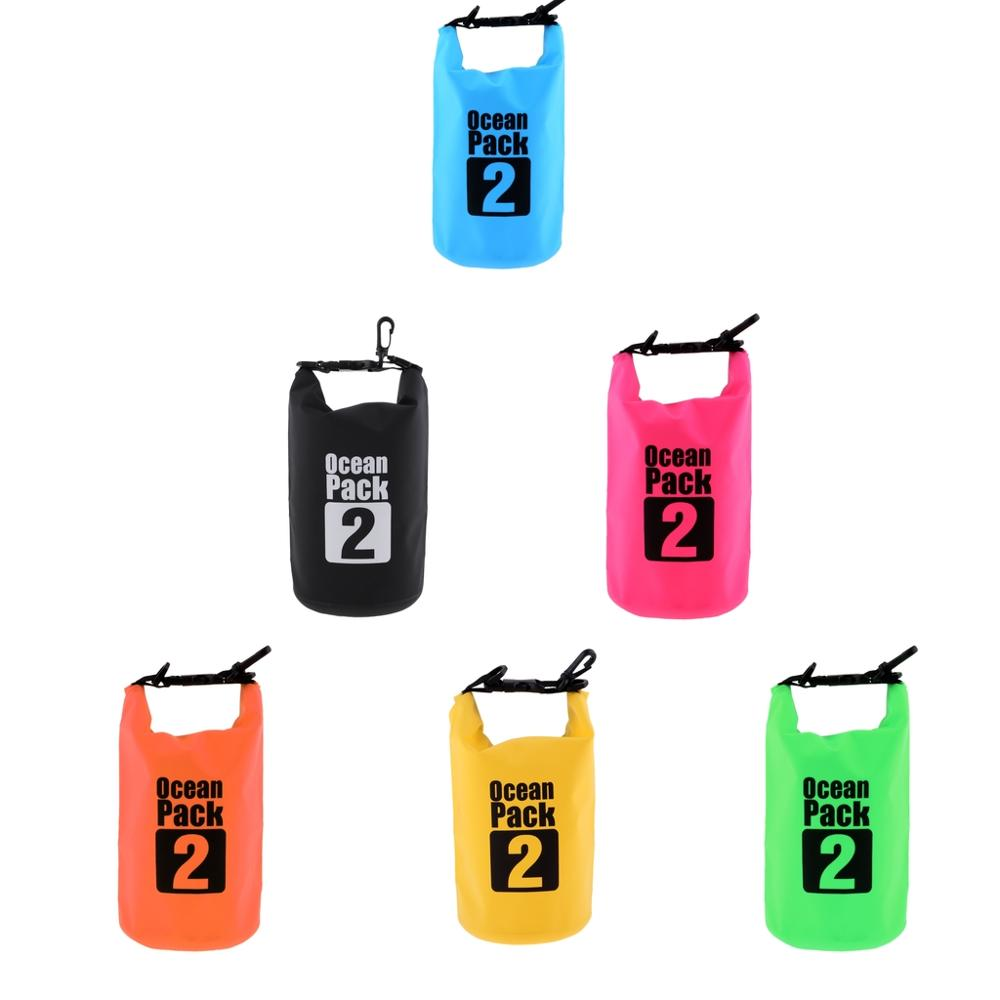 MagiDeal 2L PVC Waterproof Dry Bag Sack Outdoor Water Resistant Floating Dry Bag For Boating Fishing Rafting