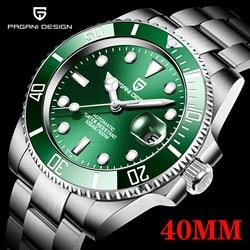 2020 PAGANI Design New 40mm Men Luxury Automatic Mechanical Wrist Watch Men Stainless Steel Waterproof Watch Relogio Masculino