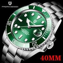 PAGANI Design-Reloj de pulsera mecánico automático para hombre, de lujo, resistente al agua, de acero inoxidable, 40mm, nuevo, 2021