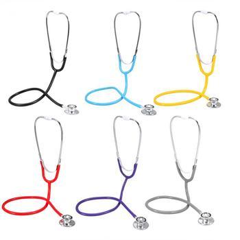 Wielofunkcyjna podwójna głowica stetoskop medyczny podwójna głowica Estetoscopio profesjonalna podwójna głowica stetoskop narzędzia opieki zdrowotnej tanie i dobre opinie TMISHION Double Head Stethoscope Black Blue Yellow Red Purple Grey Approx 610mm 45mm 40mm 20mm PVC Aluminum alloy