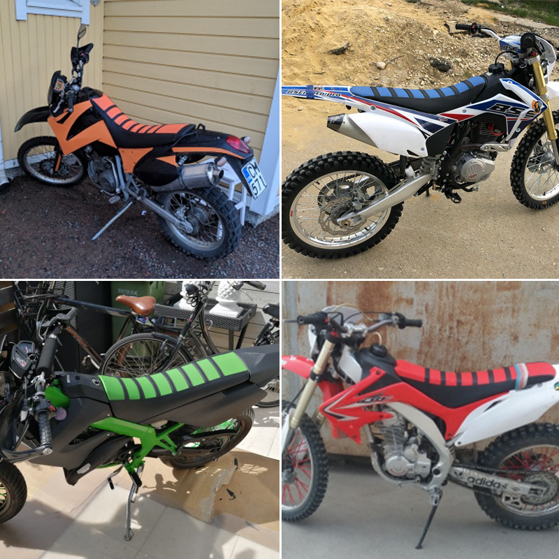Lago taupo Escudriñar empresario  ROAOPP Motorcycle Gripper Soft Seat Cover Rib Skin Rubber Dirt Bike Enduro  for KTM SX XC EXC 200 250 300 450 500 200SXF| | - AliExpress