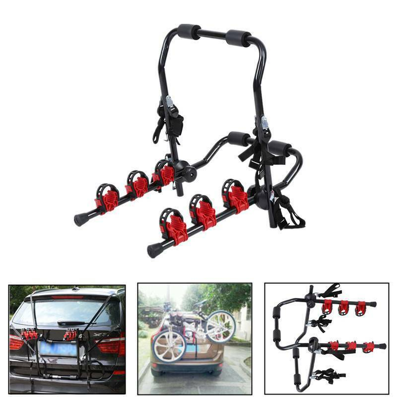 Universal Folding 3 Bicycles Carrier Auto Rack Car Rack Bike Of Rear Cars