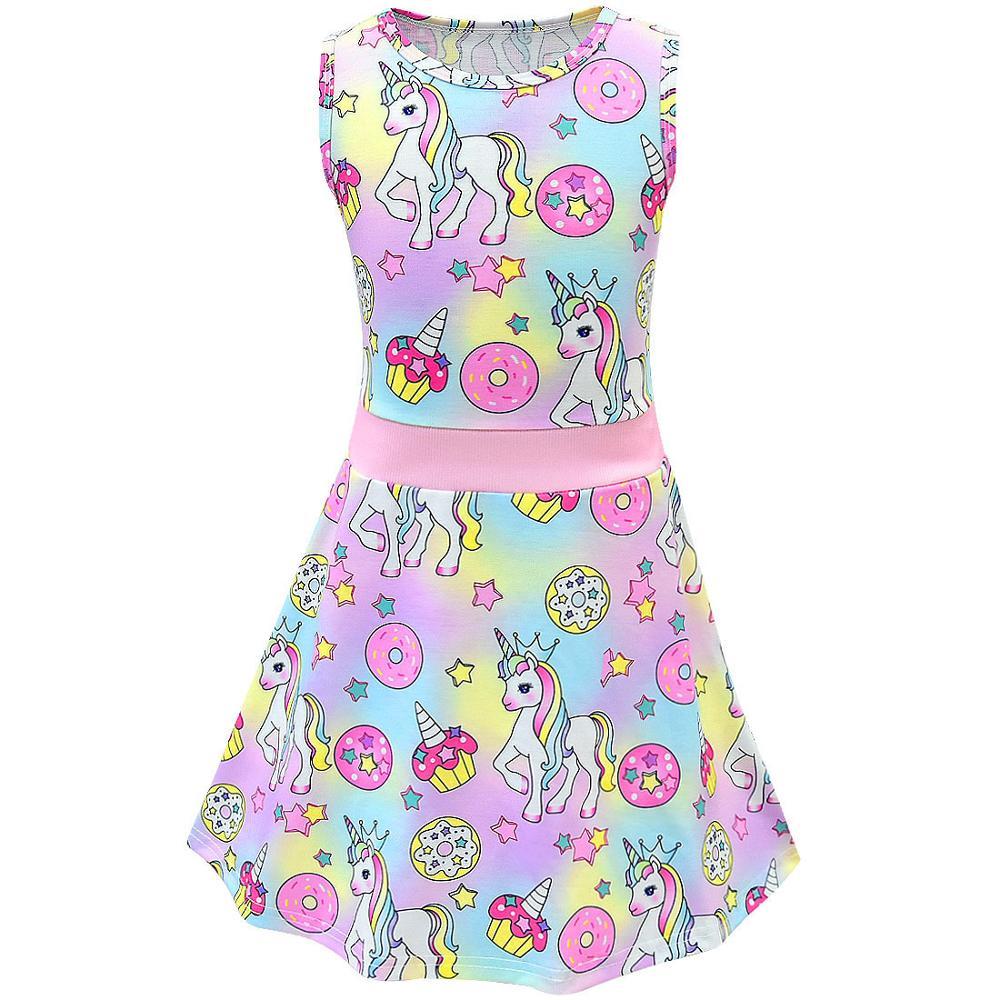 Unicorn Dress Girl Summer Princess Baby Party Frocks For Kids Vestidos Infantil Roupas Infantis Menina Toddler Haloween Costume 6