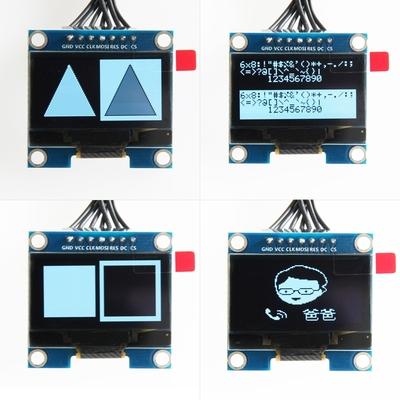 5pcs <font><b>1.3</b></font> <font><b>inch</b></font> Blue <font><b>OLED</b></font> Module SSD1106 Drive IC Compatible with SSD1306 IC 128*64 IIC/SPI Interface image