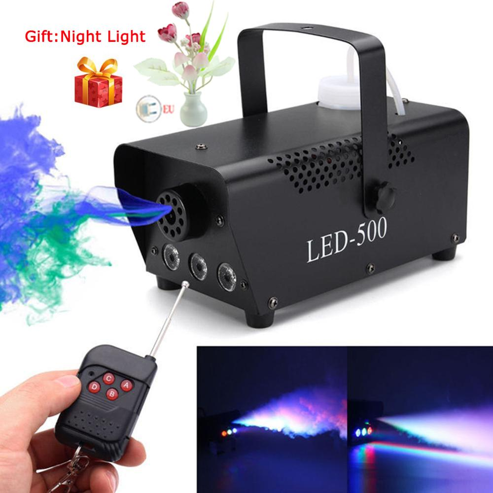 Wireless Control LED 500W Smoke Machine RGB Color LED Fog Machine LED Fogger Stage Smoke Ejector for DJ Party LED Stage Light|Stage Lighting Effect|   - AliExpress