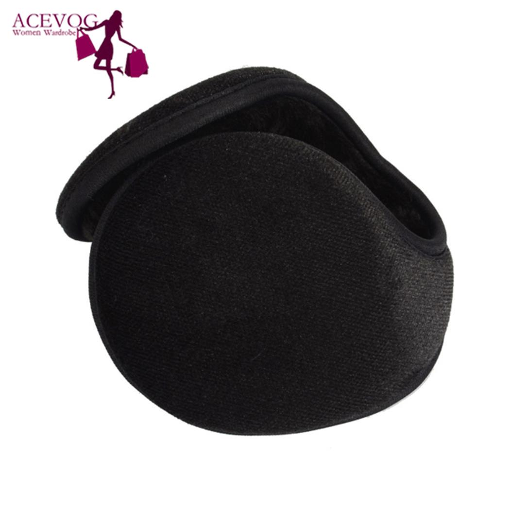 Men Solid Winter Earmuffs Wrap Ear Warmer Adult Cover Ears Casual