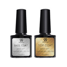 8 Ml Uv Gel Nail Polish Top Coat 2 Pcs Dasar dan Atas Mantel Pernis Kuku Gel Primer Tahan Lama rendam Off Uv Gel Kuku Seni Manikur(China)