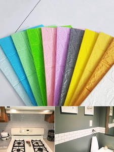 Wall-Paper Sticker Self-Adhesive-Brick Marble Bedroom Kitchen Imitation Waterproof DIY