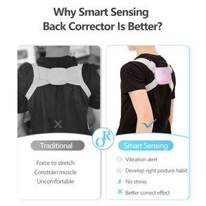 Image 3 - Corrector de detección inteligente de espalda entrenador de postura eléctrico soporteinteligente, cinturón de sujeción columna vertebral hombro madera corrección de postura