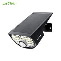 LITOM CD199 Outdoor Motion Sensor Lights 30 LED Solar Lights IP65 Waterproof Garden Wall Lights with High efficient Solar Panel