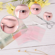 208pcs Double Eyelid Fiber Eyes Stickers Makeup Double Sided Adhesive Eyelid Fiber Invisible Eye Sticker 1 Scissors + 1 Y fork(China)