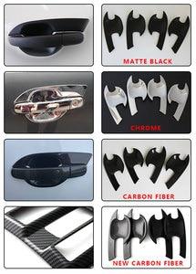 Цветные дверные ручки для автомобиля, вставки из углеродного волокна для Ford Ranger 2012-2019 2020 T6 T7 T8 Wildtrak