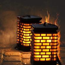 Lamp Lanterns-Lights Deck Garden-Decoration Dancing-Flame Flickering Outdoor Solar Waterproof