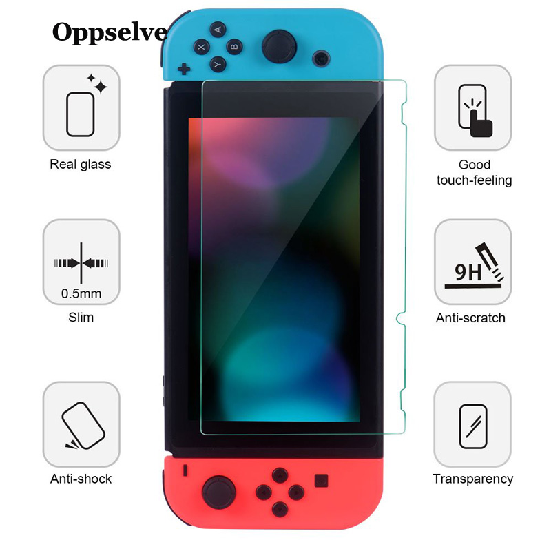 Oppselve Premium Tempered Glass Screen Protector For Nintendo Switch Nintend NS Toughened Film